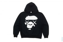 X-Eyes Apeface Pullover Hoodie by A Bathing Ape x Kaws