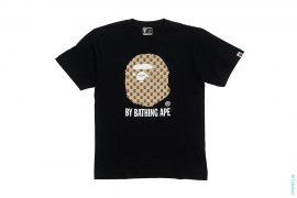 Gucci Monogram Classic Apehead Logo Tee by A Bathing Ape
