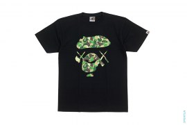 Bendy ABC Camo Big Apeface Tee by A Bathing Ape x Kaws