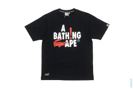 Spell Out Capsule Tee by A Bathing Ape x Lacoste