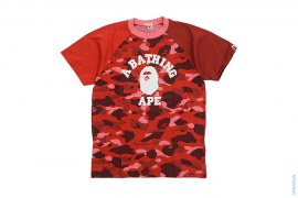 Crazy Color Camo College Logo Tee by A Bathing Ape