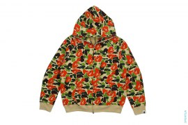 Bapexclusive Fire Camo Full Zip Hoodie by A Bathing Ape