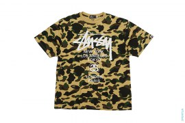 Ultimate 1st Camo City Logo Tee by A Bathing Ape x Stussy