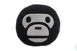Bapy Milo Fur Round Pillow by A Bathing Ape