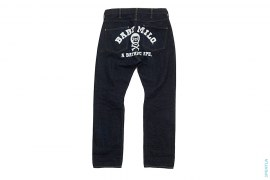 Baby Milo Cross Bones College Logo Raw Denim by A Bathing Ape