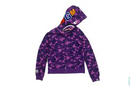 Fire Camo Shark Full Zip Hoodie by A Bathing Ape