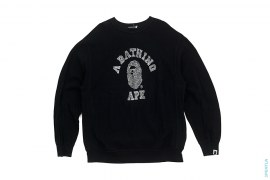Bapexclusive All Over Full Swaro College Crewneck Sweatshirt by A Bathing Ape