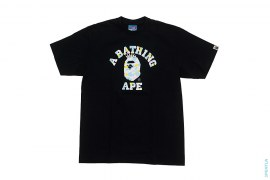Cotton Candy Multi Camo NY College Logo Tee by A Bathing Ape