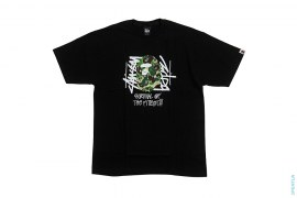 Survival Of The Fittest ABC Stussy Camo Apehead Tee by A Bathing Ape