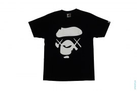 Line Camo X-Eyes Apeface Tee by A Bathing Ape x Kaws