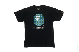 Plaid Print Classic Apehead Logo Tee by A Bathing Ape