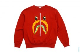 Shark Face Crewneck Sweatshirt by A Bathing Ape
