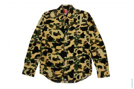Bendy 1st Camo Apehead Chest Hit Button-Up Shirt by A Bathing Ape x Kaws