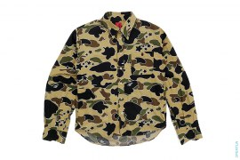 OG Star Psyche Camo Button-Up Shirt by A Bathing Ape