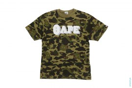 Bendy 1st Camo Raised Bape Logo Tee by A Bathing Ape x Kaws