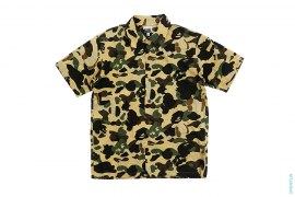 Bendy 1st Camo Short Sleeve Button-Up Shirt by A Bathing Ape x Kaws