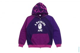 Crazy Color Camo College Logo Full Zip Hoodie by A Bathing Ape