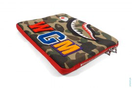 WGM Wappen Shark Laptop Case by A Bathing Ape