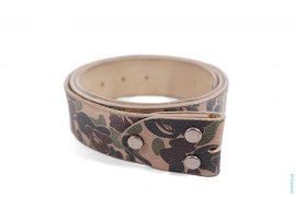 ABC Camo Premium Leather Belt by A Bathing Ape