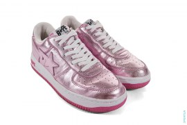 Metallic Foil Bapesta Low-Top Sneakers by A Bathing Ape