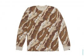Desert Camo Thermal Long Sleeve Tee by A Bathing Ape