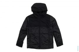 See Through Accent Circle Chomper Hooded Jacket by OriginalFake