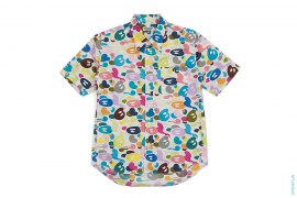 Multi Milo Camo Aloha Short Sleeve Button-Up Shirt by A Bathing Ape