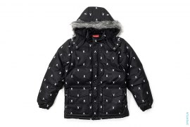 Bunny Logo Fur Hood Convertible Puffer Jacket by Supreme x Playboy