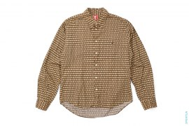 BA Pattern Apehead Pocket Button-Up Shirt by A Bathing Ape