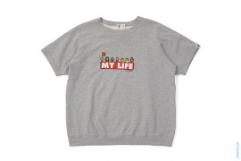 Milo My Life Short Sleeve Crewneck Sweatshirt by A Bathing Ape