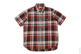 Bape Check Double Pocket Short Sleeve Button-Up Shirt by A Bathing Ape