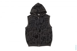 Logo Collage Sleeveless Hoodie by A Bathing Ape