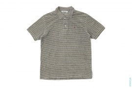 Pin Stripe Apehead Terry Cloth Polo Shirt by A Bathing Ape