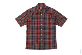 Plaid Short Sleeve Button-Up Shirt by A Bathing Ape