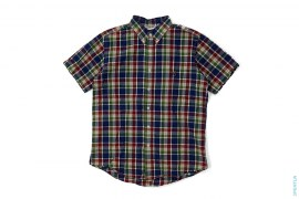 Apehead Plaid Short Sleeve Button-Up Shirt by A Bathing Ape