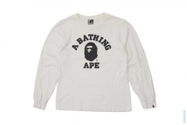 College Logo Long Sleeve Tee by A Bathing Ape