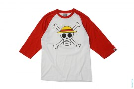 Pirate Store Luffy Flag Raglan 3/4 Sleeve Tee by A Bathing Ape x One Piece