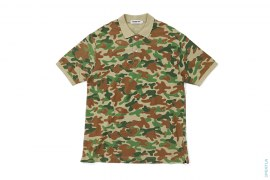 Puzzle Camo Polo Shirt by A Bathing Ape