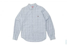 Plaid Apehead Crumpled Button-Up Shirt by A Bathing Ape