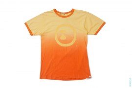 Circle Apeface Dip Dye Ringer Tee by A Bathing Ape