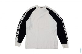 Spell Out Sleeve Raglan Long Sleeve Tee by A Bathing Ape