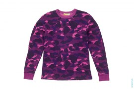 Color Camo Waffle Thermal Long Sleeve Tee by A Bathing Ape