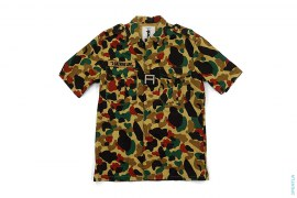 Bapeman Camo A Velcro Short Sleeve Button-Up Shirt by A Bathing Ape