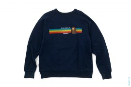 Rainbow Busy Works Generals Classic Apehead 4 Logo 4-Way Raglan Crewneck by A Bathing Ape