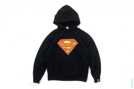 Superman Logo Pullover Hoodie by A Bathing Ape x DC Comics