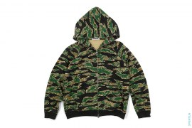 Tiger Camo Full Zip Hoodie by A Bathing Ape
