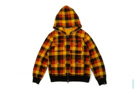 4 Pocket Plaid Full Zip Hoodie by A Bathing Ape