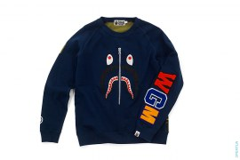 1st Camo Back WGM Wappen Shark Crewneck Sweatshirt by A Bathing Ape