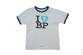 I Heart BP Reversible Pocket Ringer Tee by A Bathing Ape