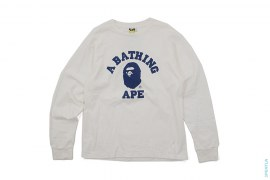 Classic College Logo Long Sleeve Tee by A Bathing Ape